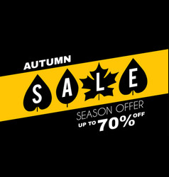 autumn sale minimalistic poster template vector image