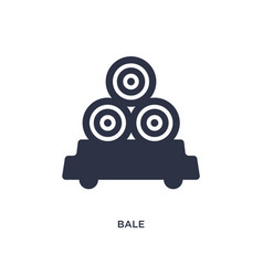 Bale icon on white background simple element from vector