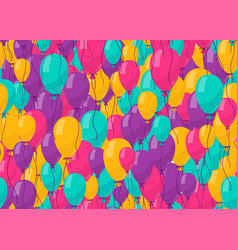 balloon seamless background for color birthday vector image