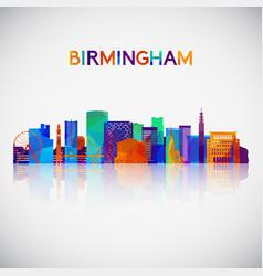 birmingham skyline silhouette vector image