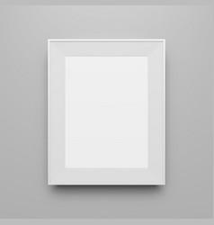 Blank white image frame mockup design vector