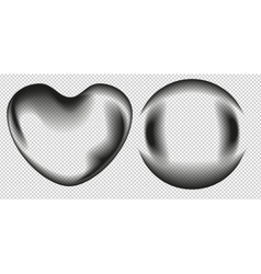 Bubble Shape ball and heart vector