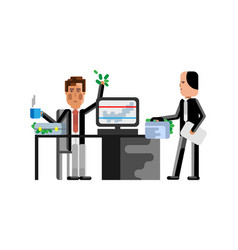 Business meeting businessman with investor vector