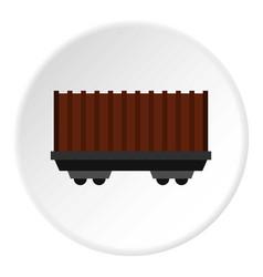 Cargo wagon icon circle vector