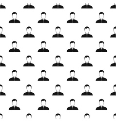 Catholic priest pattern simple style vector