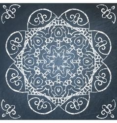 Chalkboard filigree ornament vector
