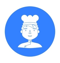 Chef icon in black style isolated on white vector image