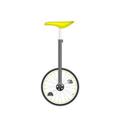 Circus bike with yellow seat vector
