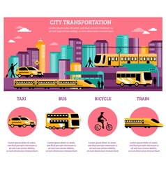 City Transportation Infographics Layout vector image