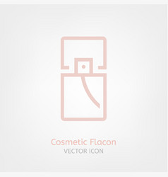 cosmetic flacon icon vector image