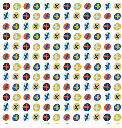Crossed out circles pattern vector