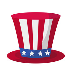 cylinder hat icon flat style 4th july concept vector image