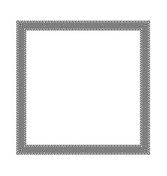 decorative black greek frame vector image