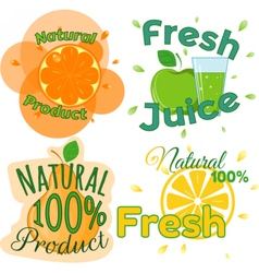 Digital fresh orange juice vector image