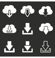 Download icon set vector image