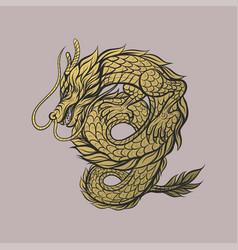 Dragon logo asian tattoo vector