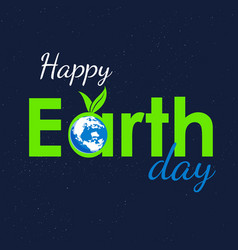 earth text vector image