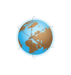 earth with orbits vector image