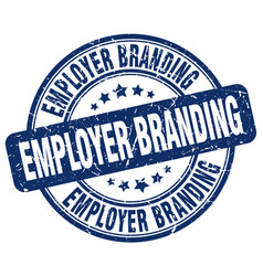 Employer branding blue grunge stamp vector
