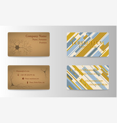 Eps10 abstract elegant business cards templates vector