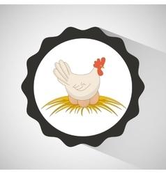 Farm countryside animal hen design vector