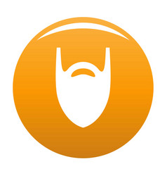 Fashion beard icon orange vector