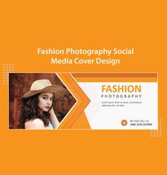 Fashion shop photography social media cover vector