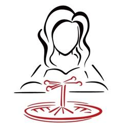 Female gambler vector image