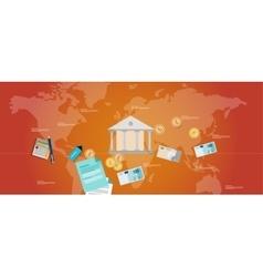 financial governance banking money regulation vector image vector image