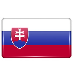 Flags Slovakia in the form of a magnet on vector