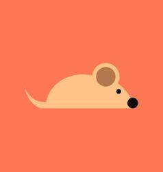 Flat icon stylish background pet mouse vector