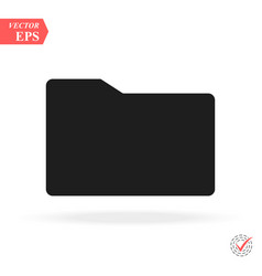 folder icon simple flat symbol perfect black vector image