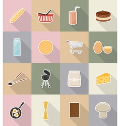 Food objects flat icons 18 vector