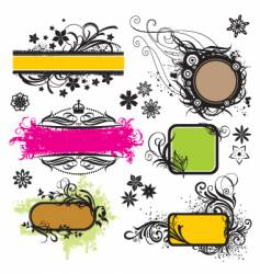frame and design elements vector image