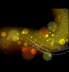 gold abstract bokeh glowing background vector image