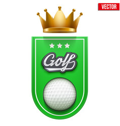Golf badge and label vector