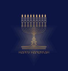 happy hanukkah jewish holiday hanukkah greeting vector image