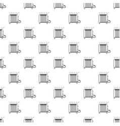 heater icon outline style vector image
