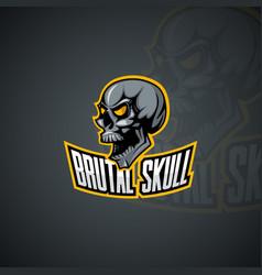 human brutal skull image vector image