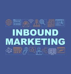 Inbound marketing word concepts banner digital vector