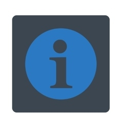 Information flat smooth blue colors rounded button vector