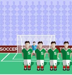 Iran Soccer Club Penalty on a Stadium vector