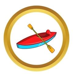 Kayak icon vector