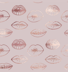 Lips rose gold elegant texture for sales and vector