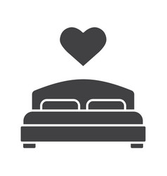 lovers bed glyph icon vector image