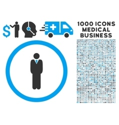 Manager Rounded Icon With Medical Bonus vector