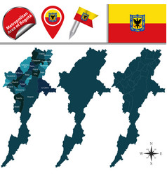 map of metropolitan area of bogota vector image