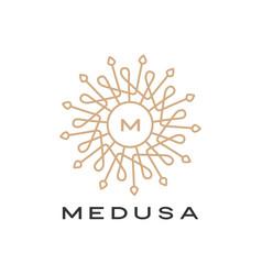 Medusa mandala logo icon vector