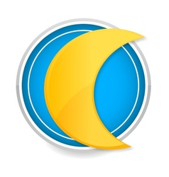 moon sign yellow color on the circle vector image
