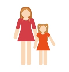 Mother and daughter relation family vector